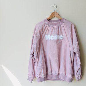 Pink Meine Fleece Lined Boxy Cut Sweatshirt